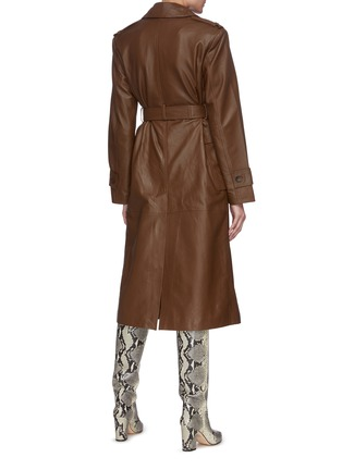 Back View - Click To Enlarge - REMAIN - Pirello' belted leather trench coat