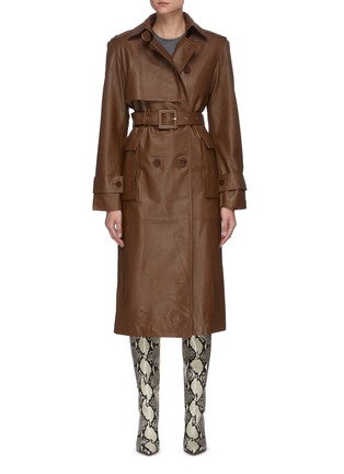 Main View - Click To Enlarge - REMAIN - Pirello' belted leather trench coat
