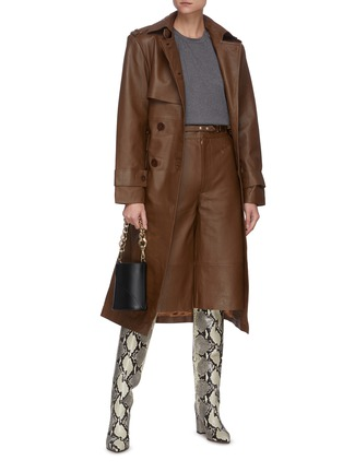 Figure View - Click To Enlarge - REMAIN - Pirello' belted leather trench coat