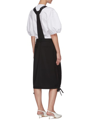 Back View - Click To Enlarge - TIBI - Overall wool blend skirt