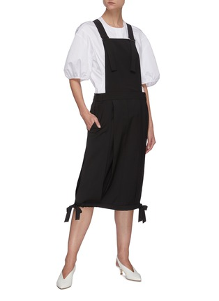 Figure View - Click To Enlarge - TIBI - Overall wool blend skirt