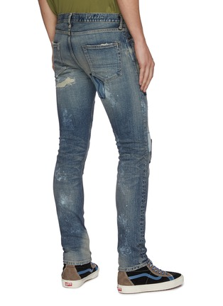 Back View - Click To Enlarge - FDMTL - Rip and repair boro patchwork skinny jeans