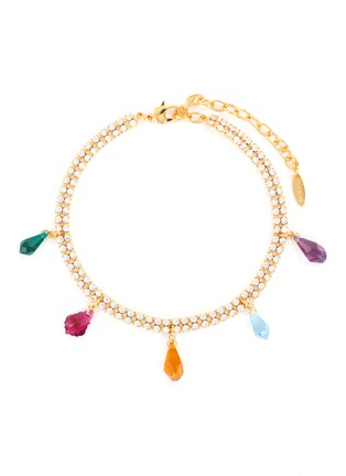 Main View - Click To Enlarge - JOOMI LIM - Multi-coloured crystal charms choker