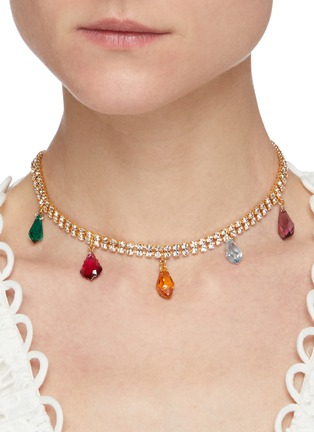 Figure View - Click To Enlarge - JOOMI LIM - Multi-coloured crystal charms choker