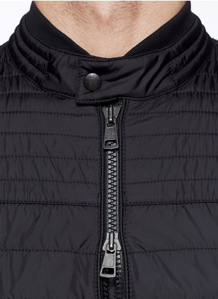 Detail View - Click To Enlarge - Moncler - 'Roi' neon stripe quilted jacket