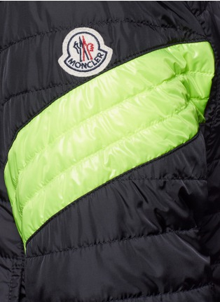 - Moncler - 'Roi' neon stripe quilted jacket