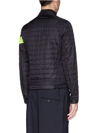 Back View - Click To Enlarge - Moncler - 'Roi' neon stripe quilted jacket