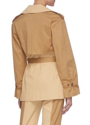 Back View - Click To Enlarge - JONATHAN SIMKHAI - Two Tone Belted Cotton Jacket