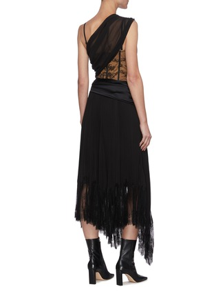 Back View - Click To Enlarge - JONATHAN SIMKHAI - 'Maude' Lingerie Midi Dress