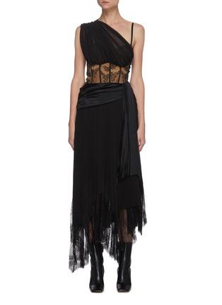Main View - Click To Enlarge - JONATHAN SIMKHAI - 'Maude' Lingerie Midi Dress