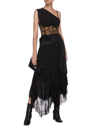 Figure View - Click To Enlarge - JONATHAN SIMKHAI - 'Maude' Lingerie Midi Dress