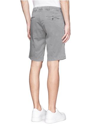 Back View - Click To Enlarge - MONCLER - 'Pantalone' garment dye cotton shorts
