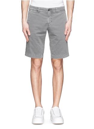 Main View - Click To Enlarge - MONCLER - 'Pantalone' garment dye cotton shorts