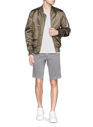 Figure View - Click To Enlarge - MONCLER - 'Pantalone' garment dye cotton shorts