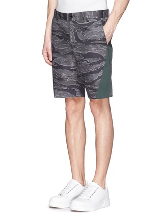 Front View - Click To Enlarge - Moncler - Side band camouflage shorts