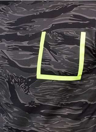 Detail View - Click To Enlarge - Moncler - Neon trim camouflage T-shirt