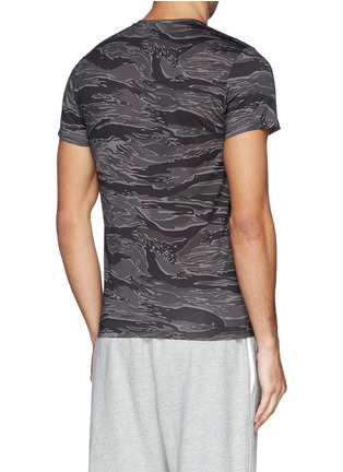 Back View - Click To Enlarge - Moncler - Neon trim camouflage T-shirt