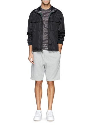 Figure View - Click To Enlarge - Moncler - Neon trim camouflage T-shirt