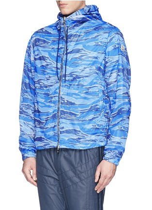 Front View - Click To Enlarge - MONCLER - 'Gobert' camouflage mesh reversible jacket