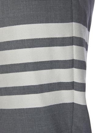 - THOM BROWNE - Four Bar Stripe Low Waist Wool Suiting Pants