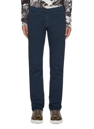Main View - Click To Enlarge - J BRAND - 'Kane' dark wash hemp blend straight leg jeans