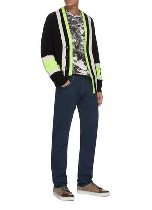 Figure View - Click To Enlarge - J BRAND - 'Kane' dark wash hemp blend straight leg jeans