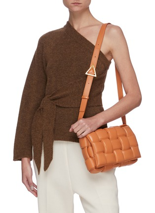 Figure View - Click To Enlarge - BOTTEGA VENETA - 'CASSETTE' INTRECCIATO LEATHER BAG