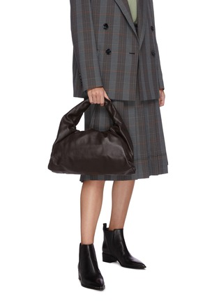 Figure View - Click To Enlarge - BOTTEGA VENETA - The Shoulder' gathered leather small pouch bag