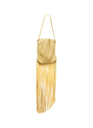 Figure View - Click To Enlarge - BOTTEGA VENETA - Fringe leather crossbody bag