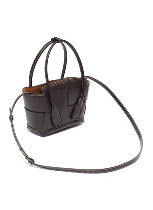 Detail View - Click To Enlarge - BOTTEGA VENETA - 'ARCO' INTRECCIO LEATHER SHOULDER BAG