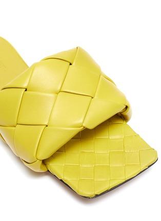 Detail View - Click To Enlarge - BOTTEGA VENETA - 'Lido' Intrecciato leather square toe slides