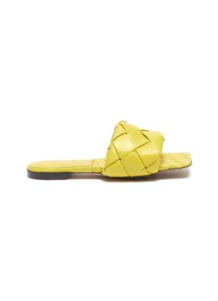 Main View - Click To Enlarge - BOTTEGA VENETA - 'Lido' Intrecciato leather square toe slides