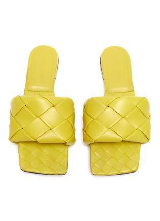 Figure View - Click To Enlarge - BOTTEGA VENETA - 'Lido' Intrecciato leather square toe slides