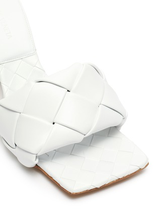 Detail View - Click To Enlarge - BOTTEGA VENETA - 'Lido' Intrecciato leather square toe pumps