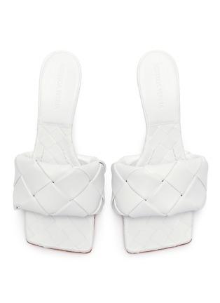 Figure View - Click To Enlarge - BOTTEGA VENETA - 'Lido' Intrecciato leather square toe pumps