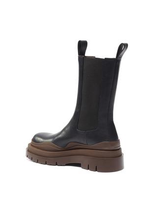 - BOTTEGA VENETA - Wavy contrast rubber sole leather chelsea boots