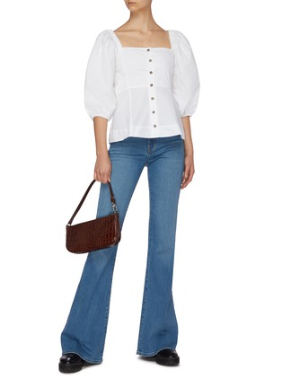 Figure View - Click To Enlarge - J BRAND - 'Valentina' medium wash flare jeans