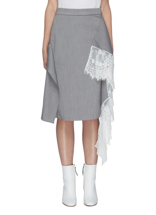 Main View - Click To Enlarge - JONATHAN LIANG - Mia lace detail midi skirt