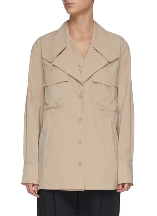 Main View - Click To Enlarge - LOW CLASSIC - Layered collar shirt