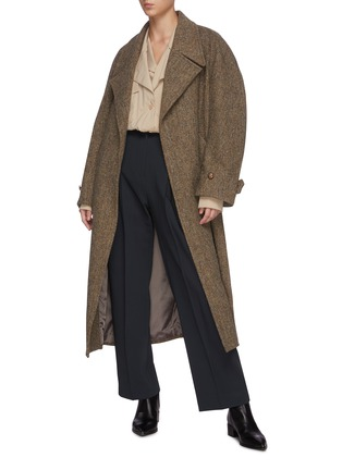 Figure View - Click To Enlarge - LOW CLASSIC - Layered collar shirt