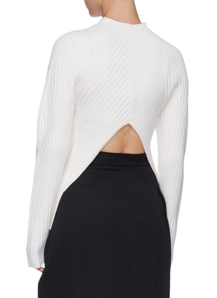 Back View - Click To Enlarge - LOW CLASSIC - Whole garment sweater