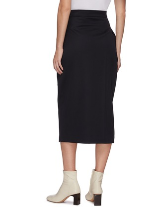 Back View - Click To Enlarge - LOW CLASSIC - Pleated wrap midi skirt
