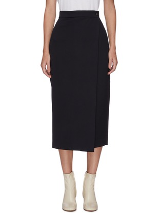 Main View - Click To Enlarge - LOW CLASSIC - Pleated wrap midi skirt