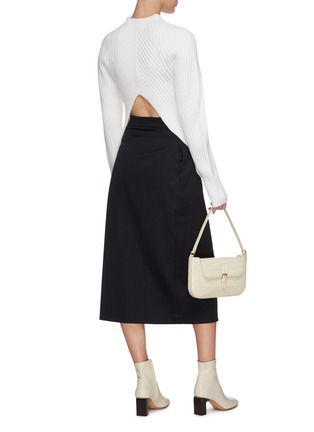Figure View - Click To Enlarge - LOW CLASSIC - Pleated wrap midi skirt