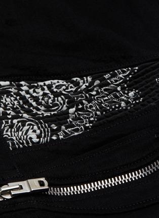 - AMIRI - MX2' bandana panelled zip knee dark wash jeans