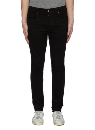Main View - Click To Enlarge - AMIRI - Stacked dark wash slim fit jeans