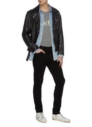 Figure View - Click To Enlarge - AMIRI - Stacked dark wash slim fit jeans