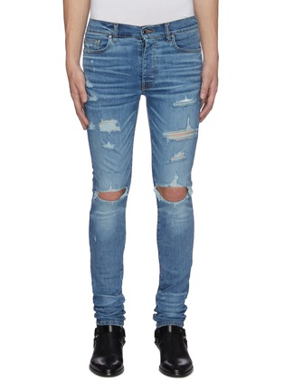 Main View - Click To Enlarge - AMIRI - Thrasher Plus' distressed skinny jeans
