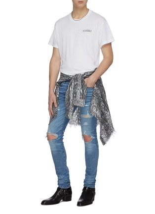 Figure View - Click To Enlarge - AMIRI - Thrasher Plus' distressed skinny jeans