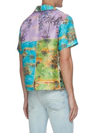 Back View - Click To Enlarge - AMIRI - Hawaiian patchwork shirt